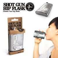 Stainless Steel Bottle Can Suck UK Shot Gun Hip Flask,Gun Flask