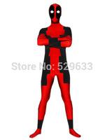 red and black deadpool costume full body zentai costume
