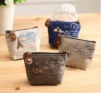 wholesale / free shopping . Korean classic zero purses Canvas Wallet creative purses.120pieces/lot,YJ116