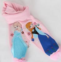 2014 new design gift Frozen Scarf frozen Hat 2pcs set /kids Snow Queen Elsa Anna girl scarves Winter warm cap/princess scarf