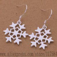 LX-AE504 925 sterling silver earrings , 925 silver fashion jewelry , big snowflake /fjdaoaka coealfla
