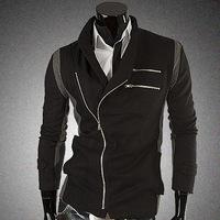 2014 Hot Sale Turtleneck Regular Length European and American Style Regular Sleeve Zipper Winter Coats & Jackets jacket 379