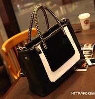 Fashion black-and-white 2014 colorant match leather fashion bag small women's handbag messenger bag