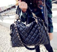 2014 new Fashion women handbag women messenger bags women leather handbags Rivet women's shoulder bags Crossbody Bags totes
