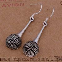 LX-AE678 925 sterling silver earrings , 925 silver fashion jewelry , black/hollow  /fpsaogza cutalmaa