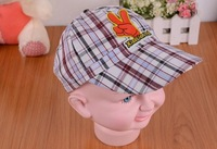 free shipping Snapback Hat E1613 hand drawing children cap, summer hot sun hats 2014 new spring cotton Boys Baseball Cap.