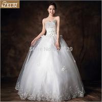 The new wedding dress Korean luxury diamond bra strap dress wholesale manufacturers H13711