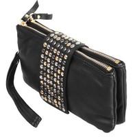 new 2014 arrive Hot selling PU Leather fashion designer Rivet bag women wallet Clutch Bag day clutch evening bags purse