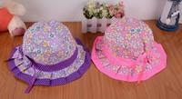 free shipping 2014Folding M SIZE children's hat and Xia Baobao hat visor caps Princess cap