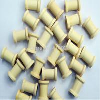1000PCS /Lot 1*1.4CM Pure Color Diy Material Wooden Bobine DIY tool Wooden Spool