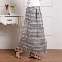 Free shipping 2014 new Summer vintage national trend pure fluid slim waist bust skirt Bohemian women's bohemia twisted dress