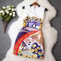 2014 hot original design new fashion women's spring and autumn wear slim elegance party dress T1993