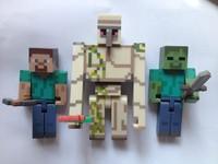 MINECRAFT Overworld Steve & Zombie  Iron Golem Figure M295