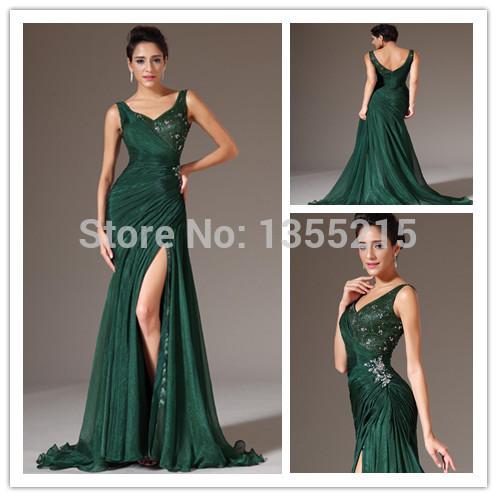 su misura 2014 verde smeraldo abiti da sera formale abiti da sera lunghi abiti eleganti prom abiti da festa vestidos para festa