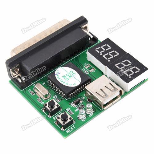 Trustmart 4 Bit Laptop USB LPT Analyzer Tester Post Card 24 hours dispatch(China (Mainland))