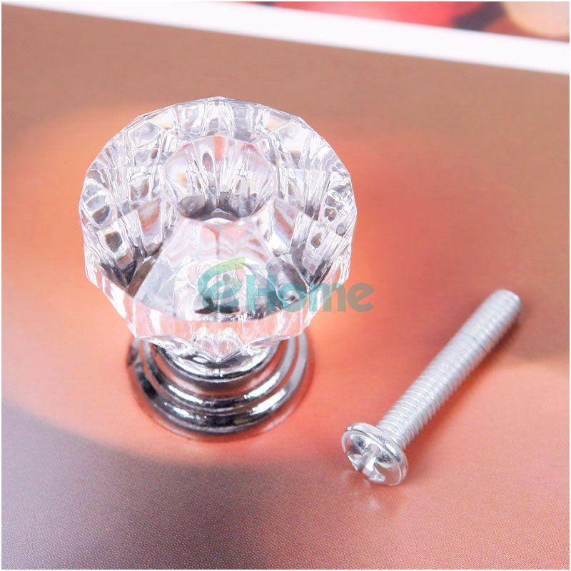 25mm Crystal Knobs Door Handle Pull Cabinet Drawer Dresser Cupboard Wardrobe#55766(China (Mainland))