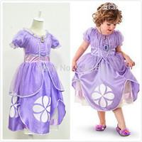 2014 Summer baby girls dress Puff Sleeve Sofia modeling Patchwork Dot Ruffles princess dress Performing dress girl party dress