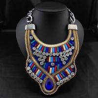 Wholesale Jewelry Brand Fashion Europe Retro Unique Items Vintage Pendant Choker Bib Statement Necklace For Women Christmas gift