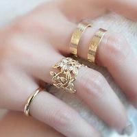 2014 new design fashion rhinestones open rings 3 pcs/set J1007