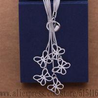 JZ-AN496 925 sterling silver Necklace, 925 silver fashion jewelry  Tai chi five butterflies /dayalsfa axeajola