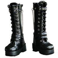 [wamami] 45# Black 1/3 SD DZ DOD BJD Dollfie Leather Boots/Shoes