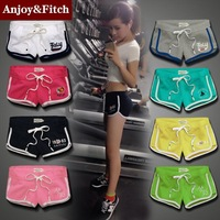 Summer sports leisure shorts female trousers patch embroidered candy color hot pants dress shorts trade cotton panty #R0124