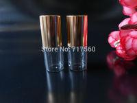 10x3ML LOT SMALL EMPTY PERFUME ROLL ON ROLLER BALL GLASS BOTTLE