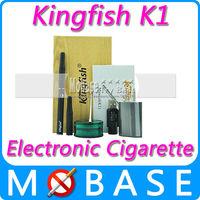 Kingfish K1 Electronic Cigarette E-cig Ago G5 Starter Kit Dry Herb Vaporizer Pen have Ceramic Filter 3.8-4.1 Voltage Black Color