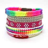2014 One of  Most Popular Knitting Multilayer Brazil Parcel Bead Bracelet Female Charm Bracelet Free Shipping
