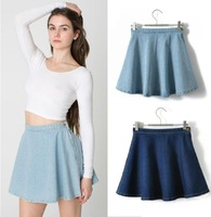 Summer&Autumn 2014 New Fshion Women's Vintage Denim A-line Skirt Bust Skirt Female Short Skirt S M L Free Shipping J2224