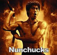 Bruce Lee Kongfu Foam Padded Nunchaku Dragon Nunchakus w/ Metal Swivel & chain Kung Fu Nunchucks Free shipping