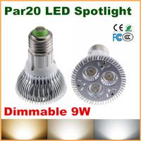 High Quality LED Light dimmable PAR20 9W Spotlight E27 socket lamp bulbs 110V 220V Cool White Warm White CE Rohs