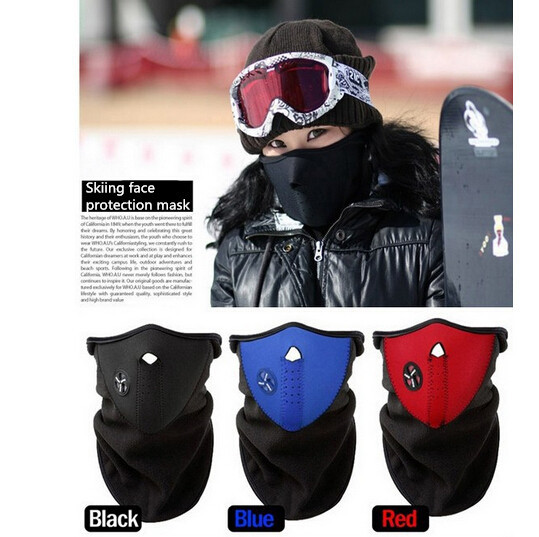 Outdoor cycling warm wind protection face mask respirator fit to ski WG CS Game(China (Mainland))