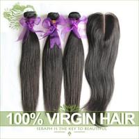 Peruvian Virgin Straight Hair Bundles With Lace Closures 4Pcs lot Cheap 6A Unprocessed Human Hair Weaves Natural Hair Extensions