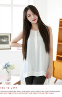 High Quality Free shipping Women Carve Sweet silky smooth Long Straight Wigs High Temperament Wire Long wigs 75cm Free Shipping