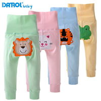 2014 NEW Autumn Children's PP Pants boy girl Cartoon cotton pants belly care high waist baby pants