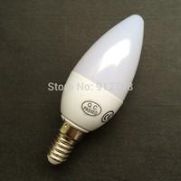 Free Shipping! 10PCS/Lot LED Candle Light 2835 SMD Bulb Lamp High Brightnes 6W E14 AC220V 240V Cold White/Warm White