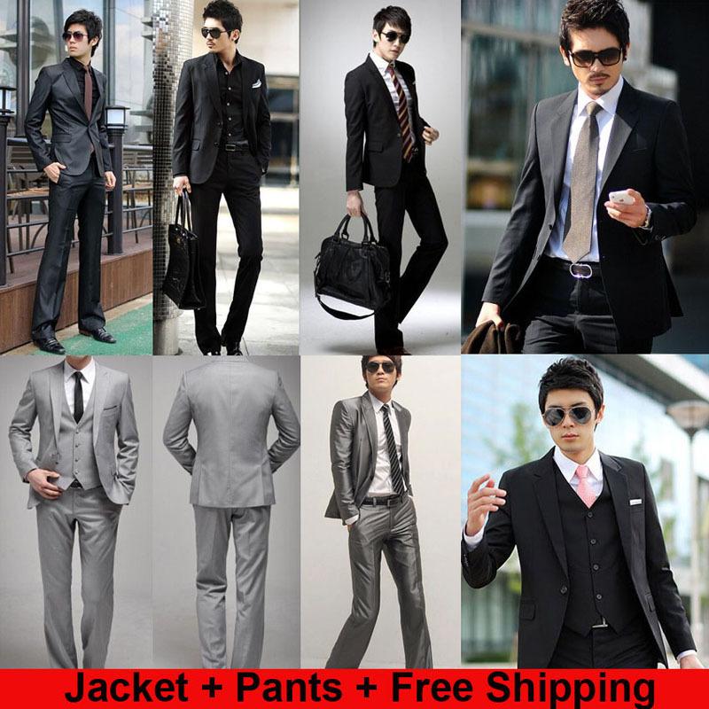 ( jacket+pants) fabbrica a buon mercato diretto 2014 nuovo formale uomini vestiti da sposa moda casual di marca terno masculino vestiti giacca per gli uomini