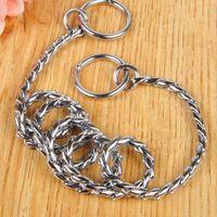 Gold Silver alloy Training Race Dog Collars Snake P Choke Metal Chain Collar Small Medium Large Dog 35cm-55cm length 4.5mm width