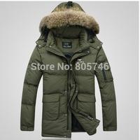 free shipping  PLUS SIZE S-3XL 2014 brand winter down jacket  warm 90% white duck Down Parkas  jacket coat Men