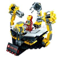 Original Box Iron Man Armillary Demolish Board & Suit-up Armor Gantry Building Block Sets SY304 Model DIY Toys Bricks