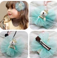 Freeshipping!New Girls/Kids/Infant/  BEAR hair clamp/Hairpins/Hair Accessories,JG125