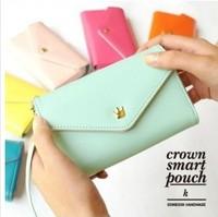 Fashion Widescreen brief vogue female apple mobile phone bag zero women wallet card bag hand bag free shipping