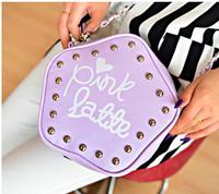 2014 chain rivet shoulder bag women's bags handbag handbags free shipping