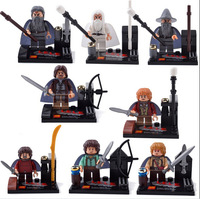 8pcs Minifigures Lord of the Ring Building Blocks Figures Toys Souptoys Minifigs