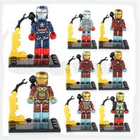 Lot of 8 pcs Ironman Building Toy Minifigure Super Hero Iron Man Blocks Toys New