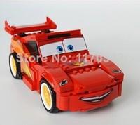Original Box PIXAR Cars Ultimate Build Lightning McQ Building Block Sets Toys Bela 10016 Educational Toys Bricks