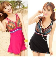 DHL free shipping 2014 swimsuit women Ethnic customs Small breasts swimwear New one-piece swimsuit swimwear beachwear