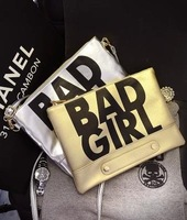 2014 New Trend PU LEATHER Letter Design Women Bags Ladies Messenger bag Handbags Day Clutch Bags for Party BG022