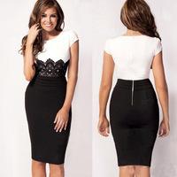 Free shipping women Casual dresses lady dress plus size new designer 0174